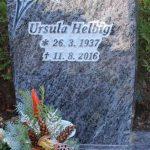 Hochstein aus Orion, vertieft erhabene Inschrift und teilplastische Rose