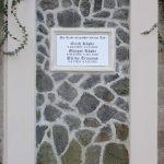 Schriftplatte Marmor, vertiefte Inschrift schwarz getönt