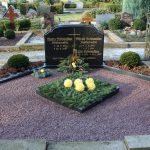 Grabanlage aus Impala mit Pflanzviereck